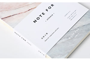 Marble Designs A5 Notebook, Stationery, Nordic Home Accessories, Elm & Blue, Style Life Home