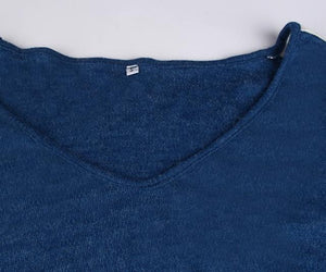 Retro V Neck Jumper, Clothing, Nordic Home Accessories, Elm & Blue, Style Life Home