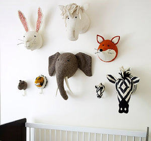 Soft Animal Head, Toy, Nordic Home Accessories, Elm & Blue, Style Life Home