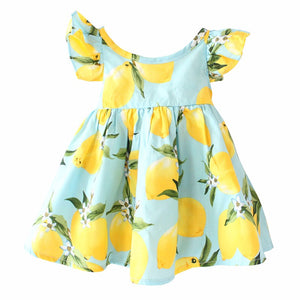 Girls Lemon Dress, Clothing, Nordic Home Accessories, Elm & Blue, Style Life Home