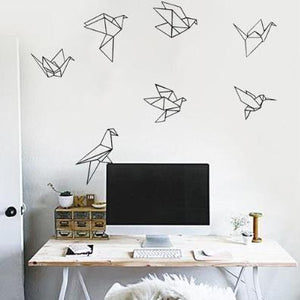 Origami Bird Wall Decor, Wall Sticker, Nordic Home Accessories, Elm & Blue, Style Life Home