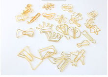 Gold Fancy Paper Clips, Stationery, Nordic Home Accessories, Elm & Blue, Style Life Home