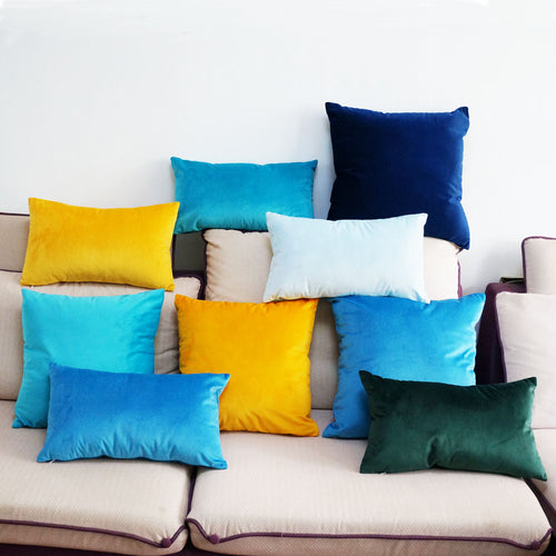 Bold Colour Velvet Cushion Covers, Cushion, Nordic Home Accessories, Elm & Blue, Style Life Home