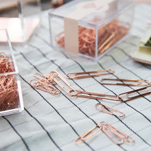Rose Gold Paper Clips, Stationery, Nordic Home Accessories, Elm & Blue, Style Life Home