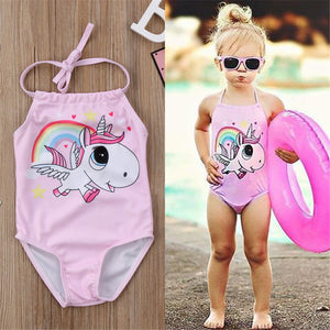 Girls Unicorn Swimsuit, Swimwear, Nordic Home Accessories, Elm & Blue, Style Life Home
