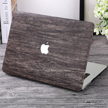 Wood Grain Macbook Cover with Apple Logo, Device Cover, Nordic Home Accessories, Elm & Blue, Style Life Home
