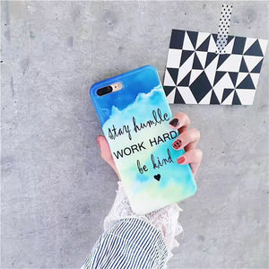 Glossy Quote iPhone Case, Phone Case, Nordic Home Accessories, Elm & Blue, Style Life Home