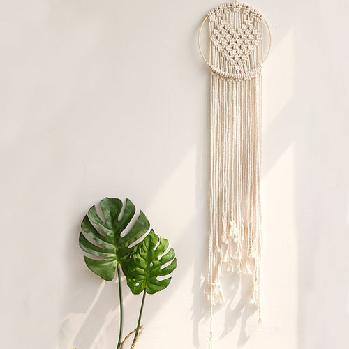 Cream Cotton Heart Macrame, Ornament, Nordic Home Accessories, Elm & Blue, Style Life Home