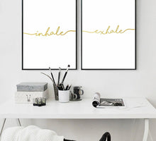 Inhale Exhale Quote Poster, Wall Art, Nordic Home Accessories, Elm & Blue, Style Life Home