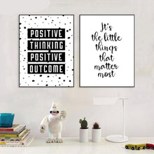 Positive Wall Art Canvas, Wall Art, Nordic Home Accessories, Elm & Blue, Style Life Home
