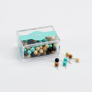Nature Colour Push Pins, Stationery, Nordic Home Accessories, Elm & Blue, Style Life Home