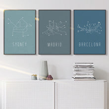 Cityscape Canvas Print, Wall Art, Nordic Home Accessories, Elm & Blue, Style Life Home