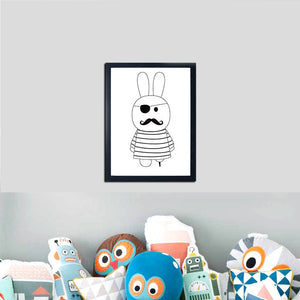 Cartoon Animals Canvas Print, Wall Art, Nordic Home Accessories, Elm & Blue, Style Life Home