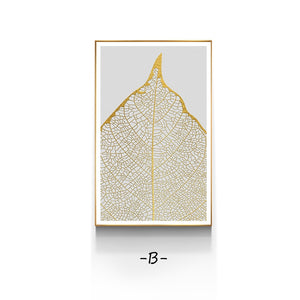 Elegant Golden Canvas Print, Wall Art, Nordic Home Accessories, Elm & Blue, Style Life Home