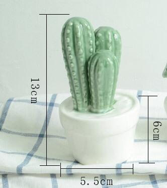 Green Ceramic Cactus, Ornament, Nordic Home Accessories, Elm & Blue, Style Life Home