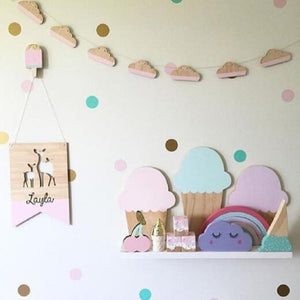 Cloud Garland Wooden, Garland, Nordic Home Accessories, Elm & Blue, Style Life Home