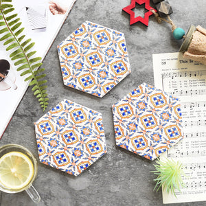 Nordic Style Ceramic Coasters, Ornament, Nordic Home Accessories, Elm & Blue, Style Life Home
