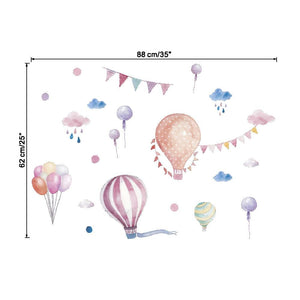 Colourful Balloons Wall Decor, Wall Sticker, Nordic Home Accessories, Elm & Blue, Style Life Home