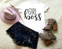 Girl Boss T Shirt, Clothing, Nordic Home Accessories, Elm & Blue, Style Life Home