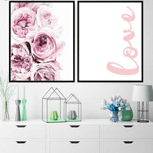 Pink Flower Canvas, Wall Art, Nordic Home Accessories, Elm & Blue, Style Life Home
