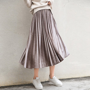 Metallic Pleated Skirt, Clothing, Nordic Home Accessories, Elm & Blue, Style Life Home