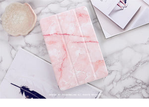Marble Grain iPad Cover, Device Cover, Nordic Home Accessories, Elm & Blue, Style Life Home