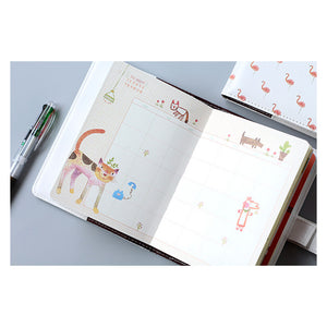 Flamingo and Deer Hardcover Diary, Stationery, Nordic Home Accessories, Elm & Blue, Style Life Home