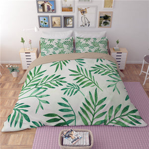 Leaves Bedding Sets 1, Bedding, Nordic Home Accessories, Elm & Blue, Style Life Home