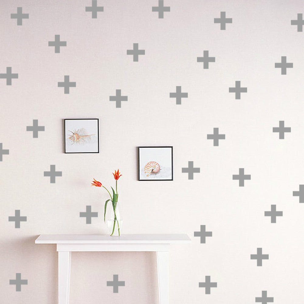 Plus Wall Stickers Elm Blue Wallpaper Sticker 42 Nordic Home Accessories Style