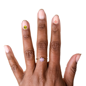 O&J x FS Groovy Bouquet Mani + Ring Set