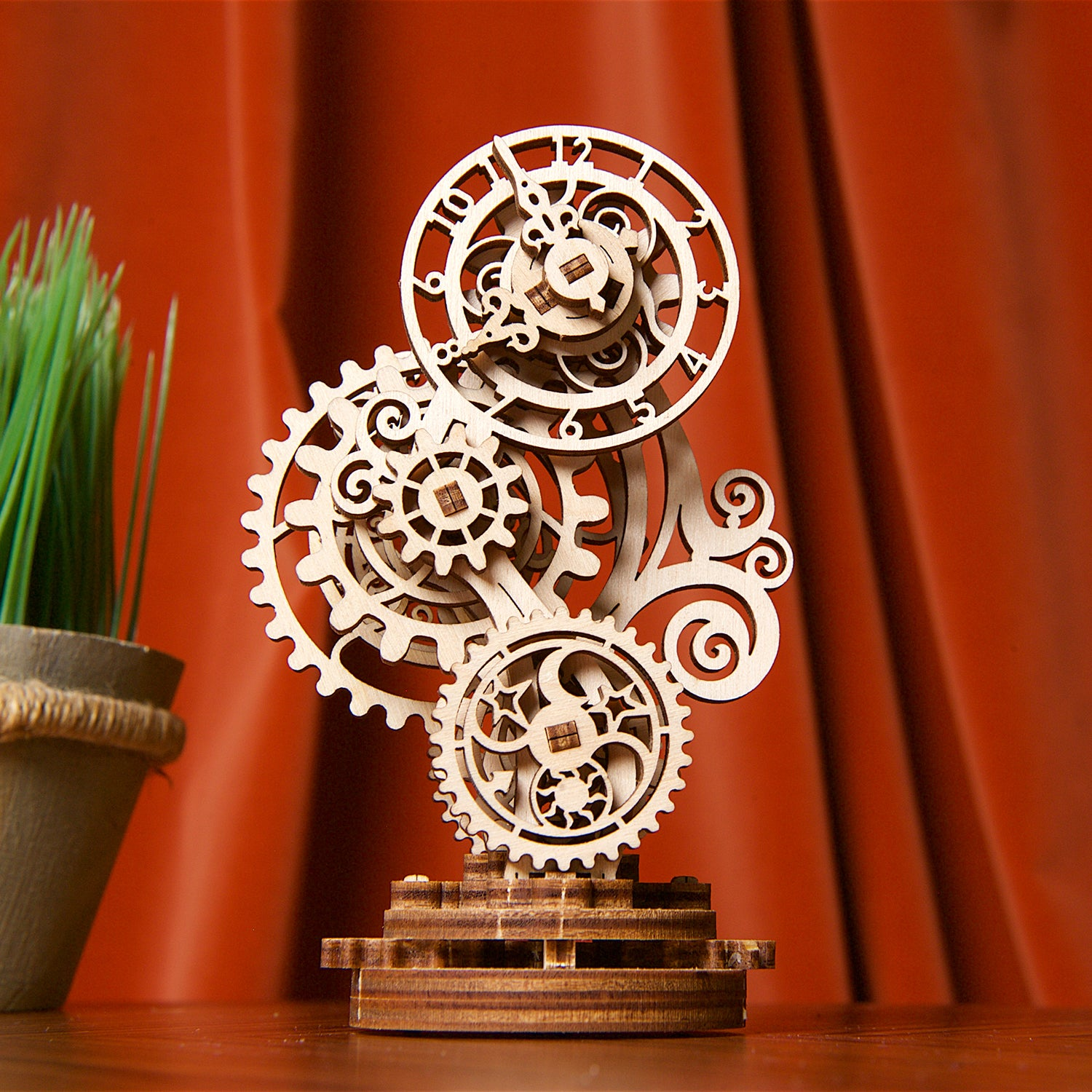 """Steampunk Clock"" mechanical model kit"