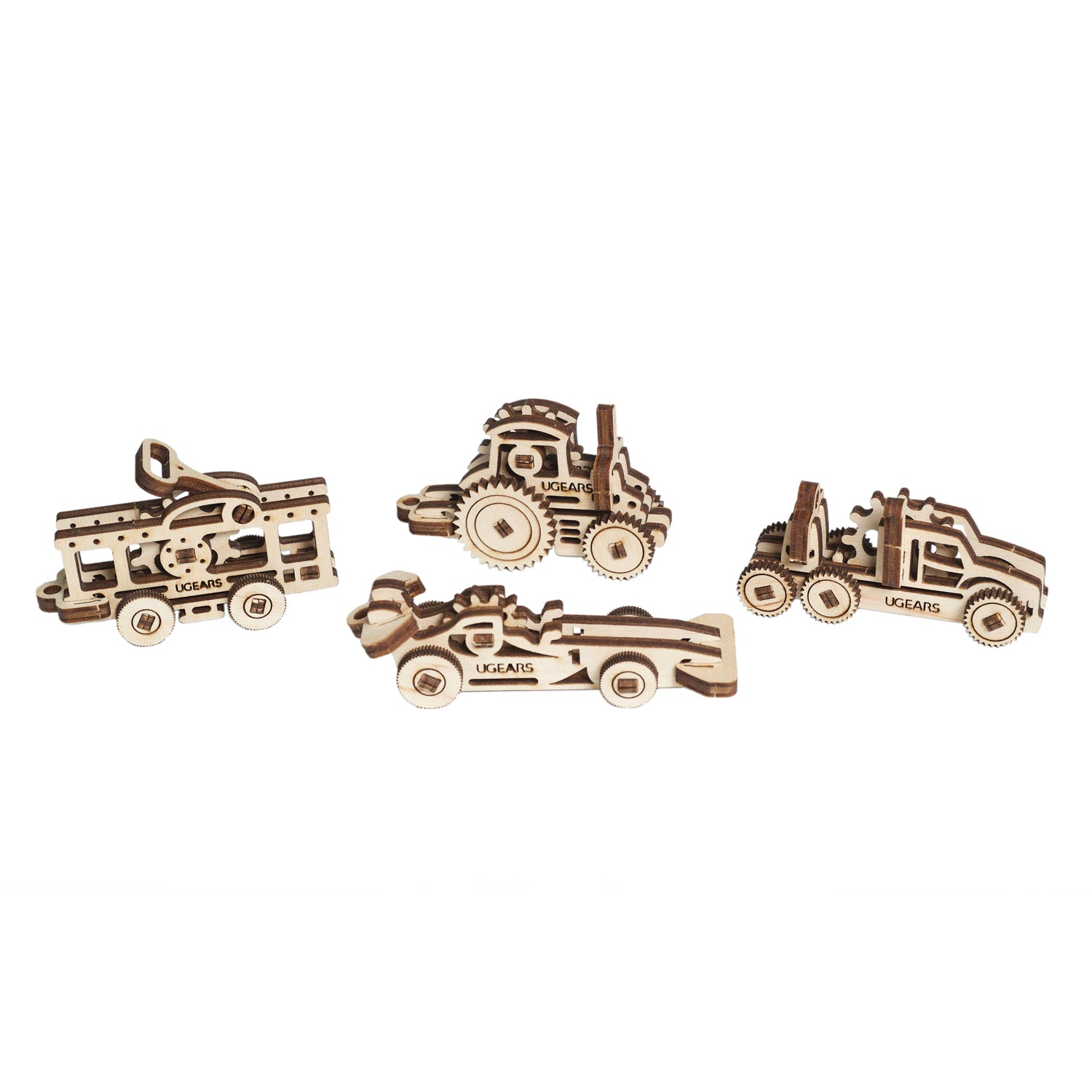 U-Fidgets-Vehicles. Set of 4 models