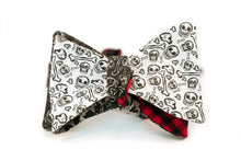 Reversible Red & Black Checks With Skulls & Camo Bow Tie Butterfly