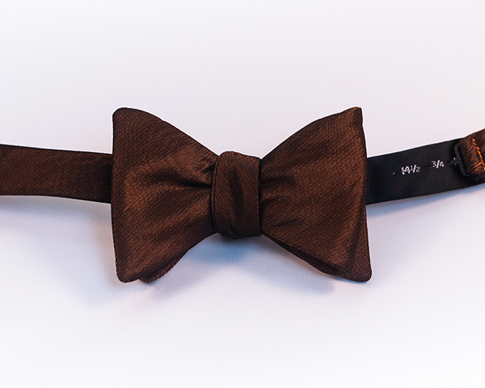 Orange & Black Iridescent Solid Polyester Bow Tie-Butterfly