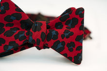 Red & Black Leopard Print Cotton Bow Tie