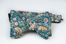 Strawberry Field Cotton Floral Bow Tie Butterfly
