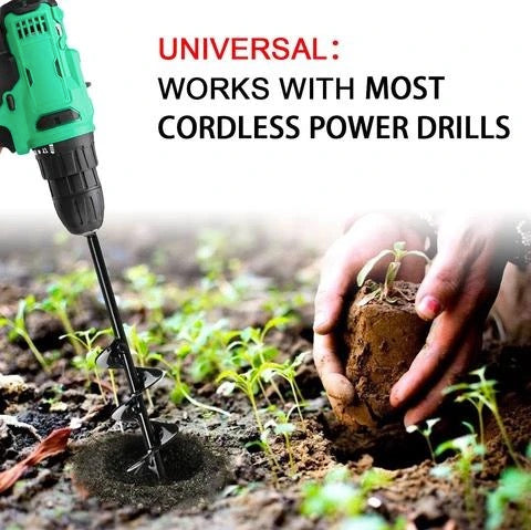 Garden Spiral Hole Drill Planter Bit Flower Bulb Hex Shaft Auger Yard Gardening Bedding Planting Post Hole Digger Tools By SousStore