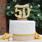 50th Wedding Anniversary Cake Topper - Just Toppers