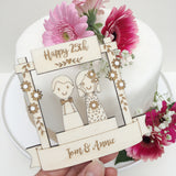 Wedding Anniversary Cake Decoration - Just Toppers