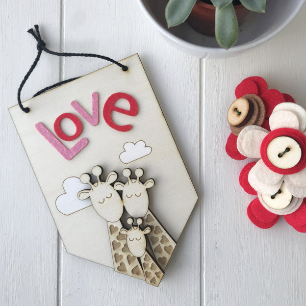 Baby's First Valentine's Day love token keepsake banner - Just Toppers