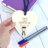 Boy's Graduation Heart - Just Toppers