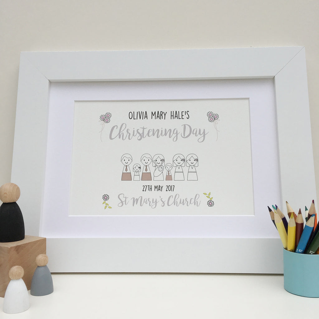 Christening or Baptism Day Print - Just Toppers