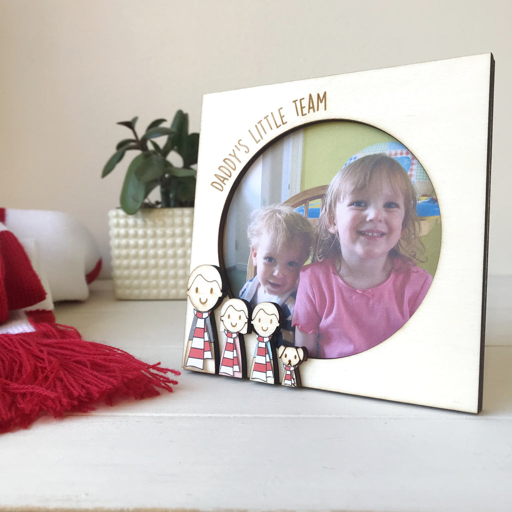 Personalised Daddy Football Fan Photo Frame - Just Toppers