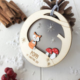 Baby's First Christmas Woodland Bauble - Just Toppers