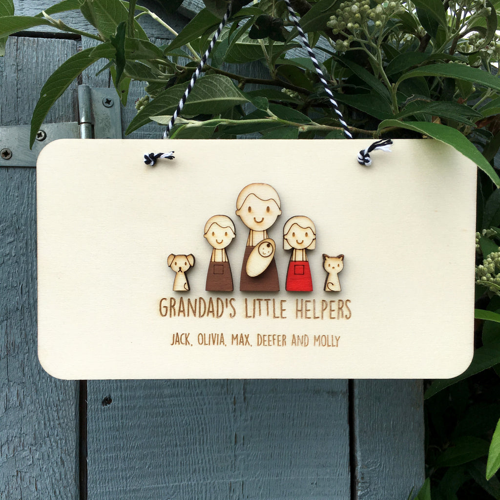 Grandad or Grandpa's Keepsake Sign - Just Toppers