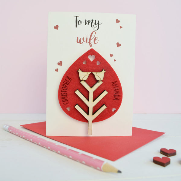 Wife Valentine's Card and Keepsake - Just Toppers