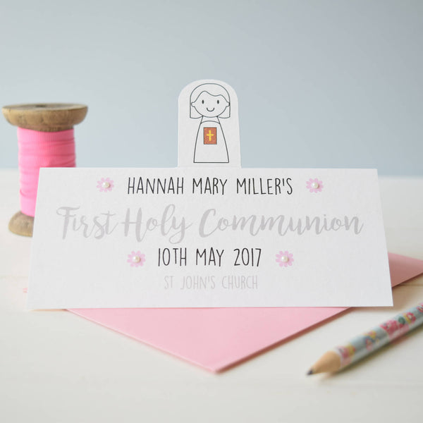Girl's First Holy Communion Card - Just Toppers