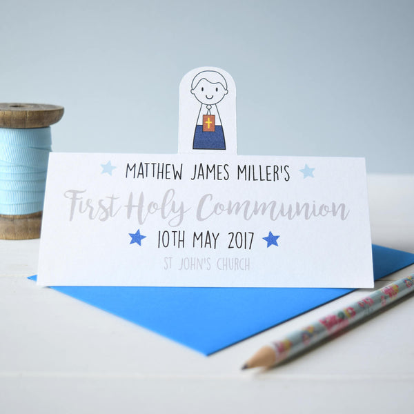 Boy's First Holy Communion or Confirmation Card - Just Toppers