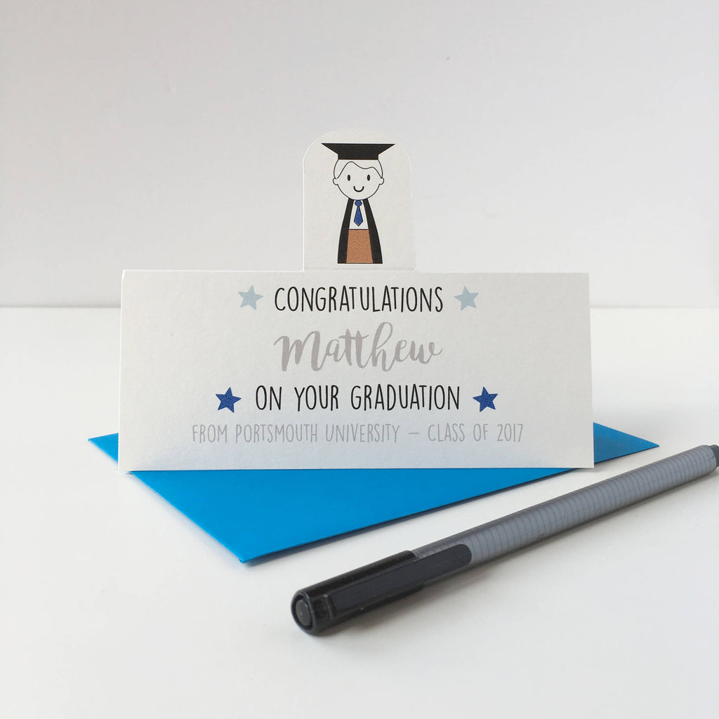 Boy's Graduation Card - Just Toppers