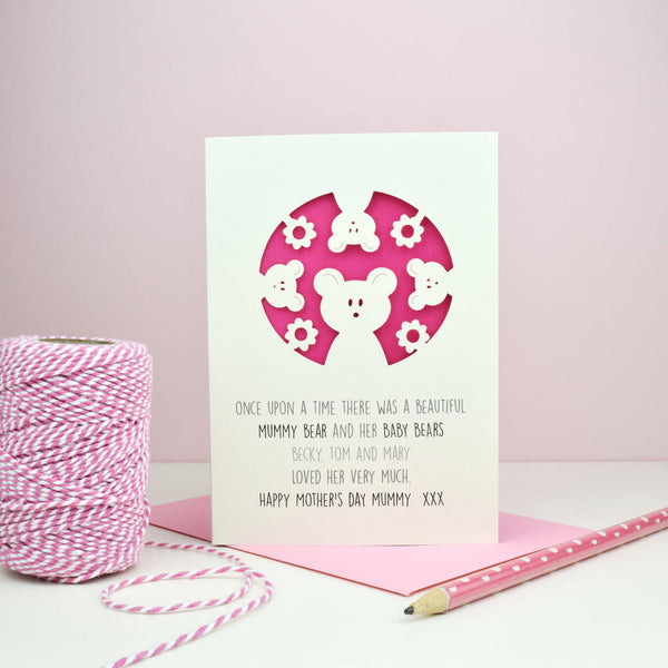 Mummy Bear Mother's Day Card - Just Toppers